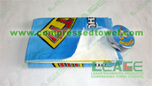 Compressed Beach Towel